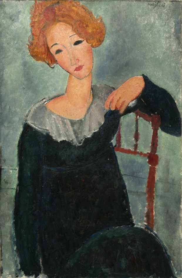 Woman with red hair, Amadeo Modigliani, 1917, National Gallery of Art, Washington, The History of Amadeo Modigliani's Portraits