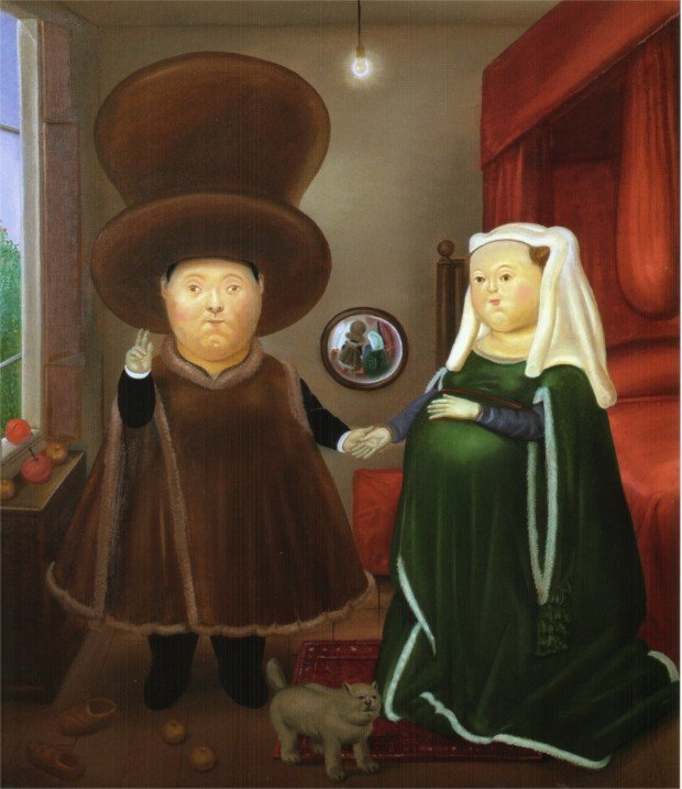 Fernando Botero's works After the Arnolfini Van Eyck (2), 1978 - Fernando Botero