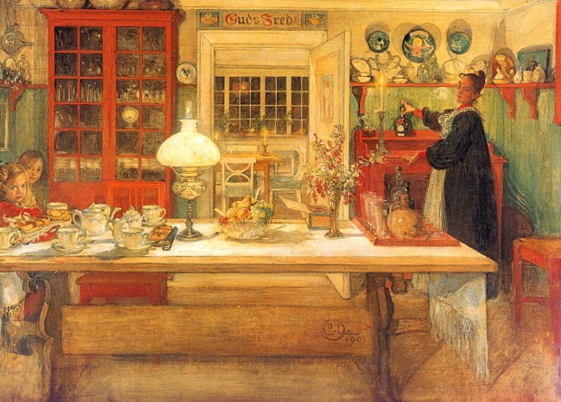 Carl Larsson, Getting Ready for a Game, 1901, Nationalmuseum, Stockholm, Sweden, carl larsson house