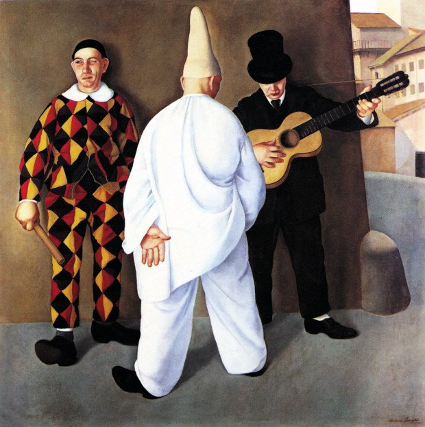 Antonio Donghi, Carnevale, 1923, private collection, Venice Carnival In Paintings