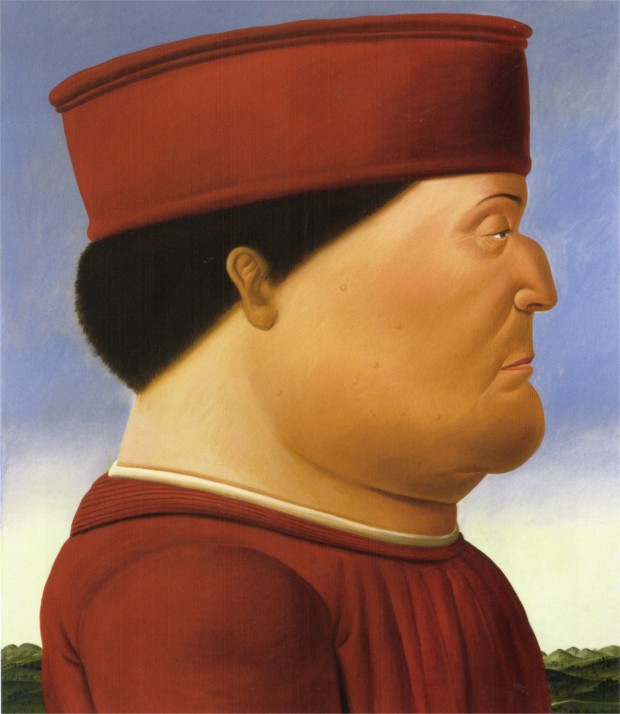 Fernando Botero's works Fernando Botero, Federico da Montefeltro (after Piero della Francesca), 1998, private collection