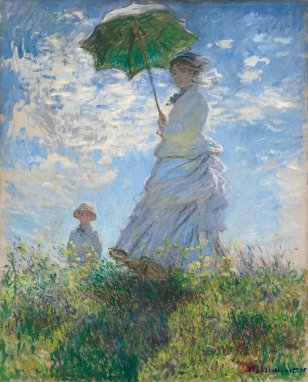 Claude Monet, Woman with a Parasol, 1875, National Gallery of Art Washington DC Monet and Pigeons