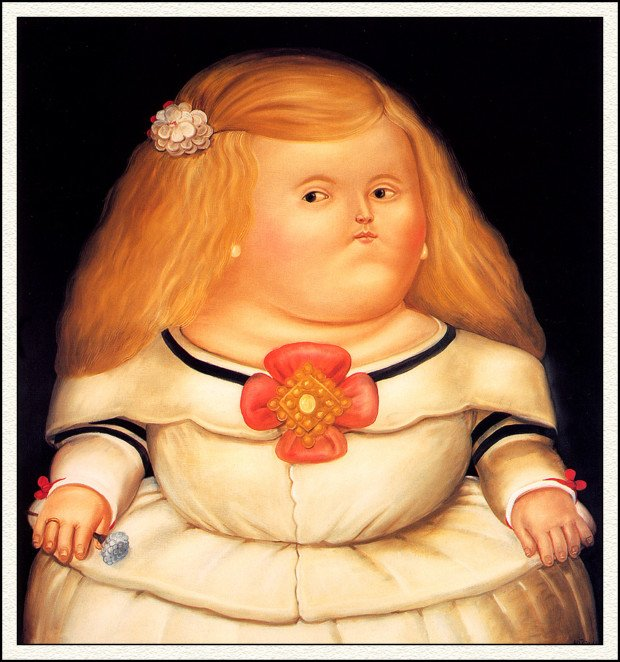 Fernando Botero's works Fernando Botero, La Menina (After Velazquez), 1982, private collection