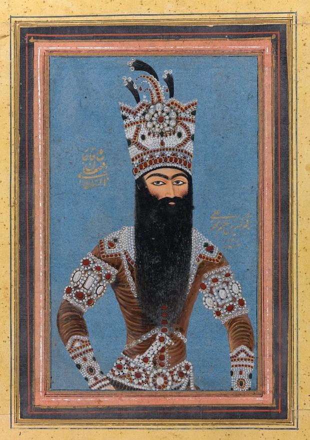 Mihr 'Ali, Portrait of Fath Ali Shah Qajar, 1815, Brooklyn Museum, qajar portraits