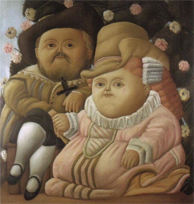 Fernando Botero masterpieces Fernando Botero, Rubens and His Wife, 1965, private collection Fernando Botero's works