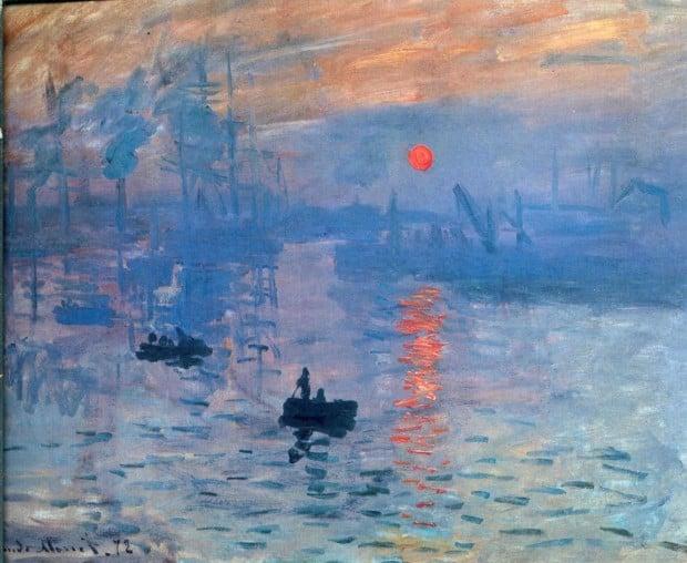 Claude Monet, Impression, Sunrise, 1872, Musée Marmottan Monet Monet and Pigeons