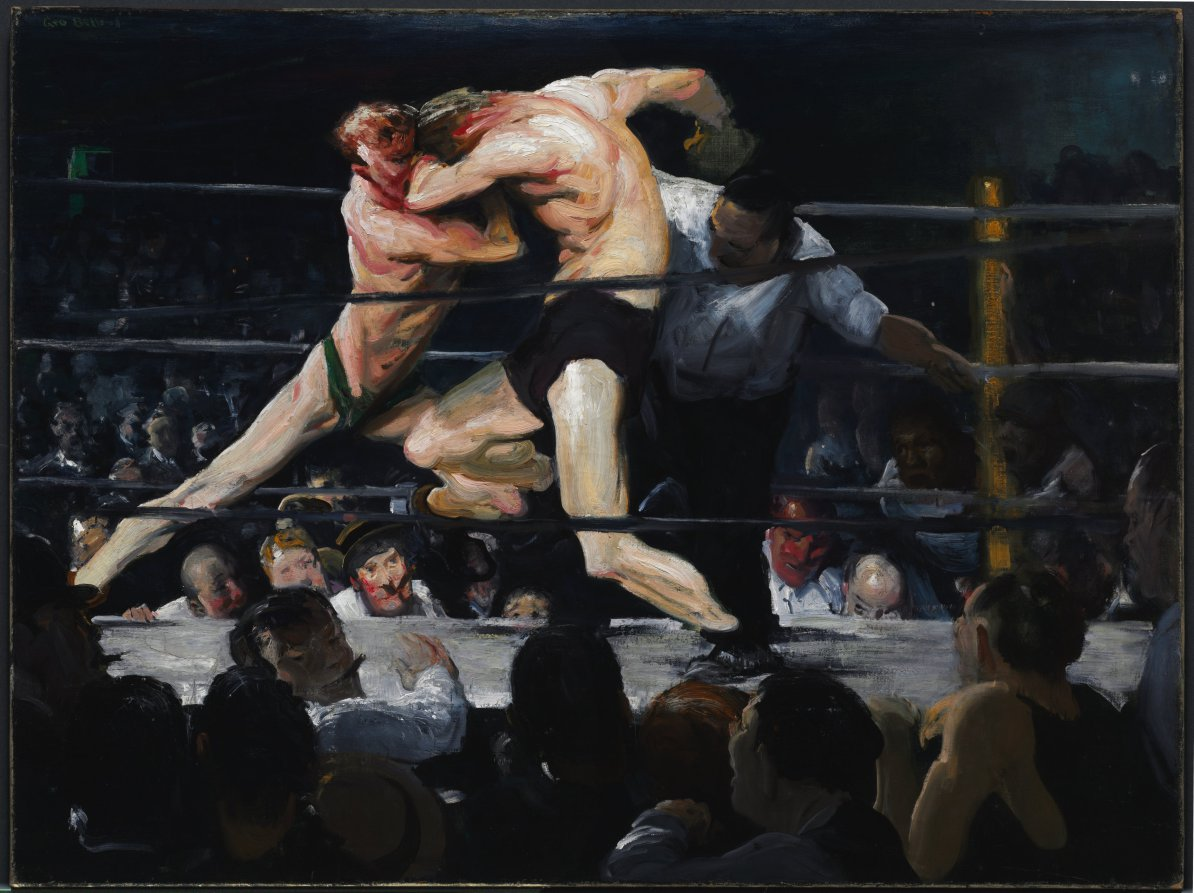 Art in BoJack HorsemanGeorge Bellows, Stag at Sharkey's, 1909, Cleveland Museum of Art