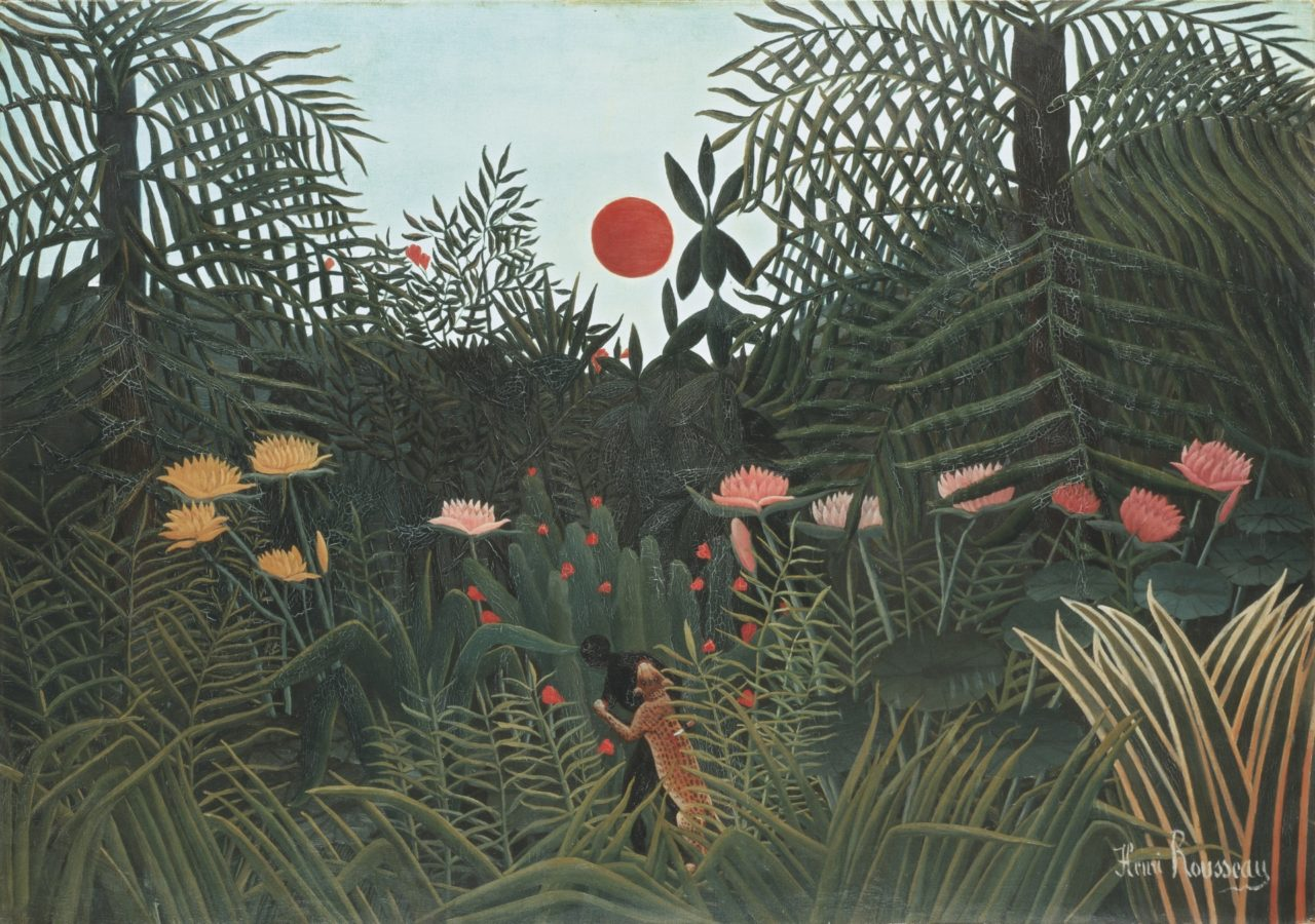 Art in BoJack HorsemanHenri Rousseau, Jungle with Setting Sun, ca. 1910, Kunstmuseum Basel