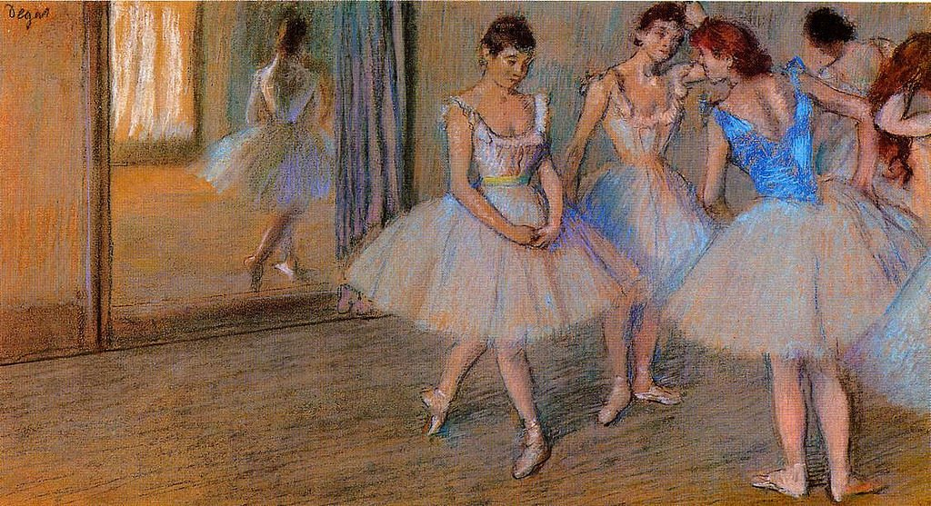 Art in BoJack Horseman Dancers in a Studio by Edgar Degas, c.1884, private collection