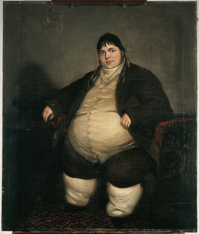 Ben Marshall, Daniel Lambert, weighing almost forty stone, 19th century, Wellcome Library London, History of medicine in art