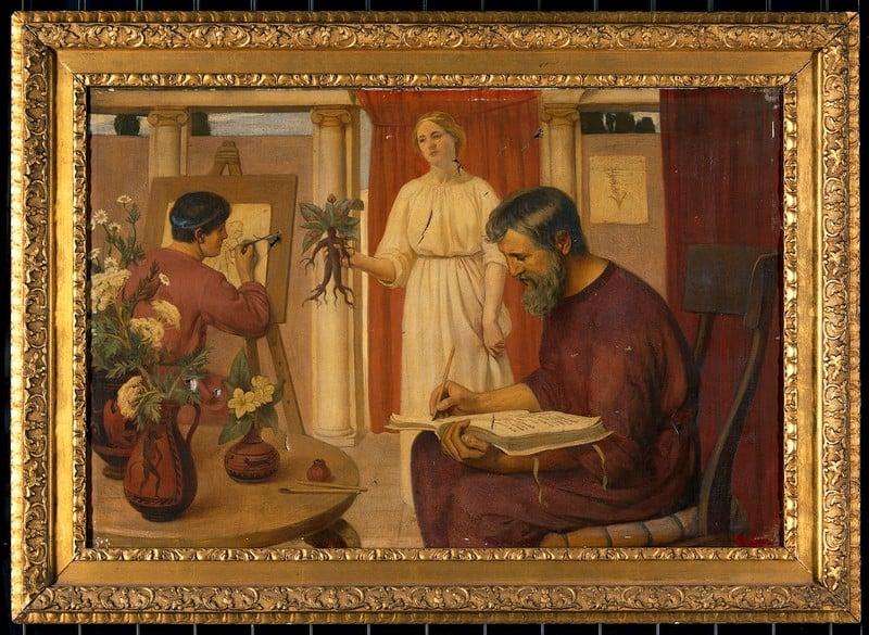 Ernest Board, Dioscorides describing the mandrake, 1909, Wellcome Library, London, UK. medicine in art