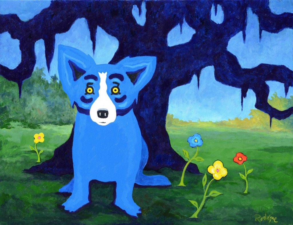 I Have a Colorful Life, 2013 by George Rodrigue, 30x40 inches, acrylic on canvas