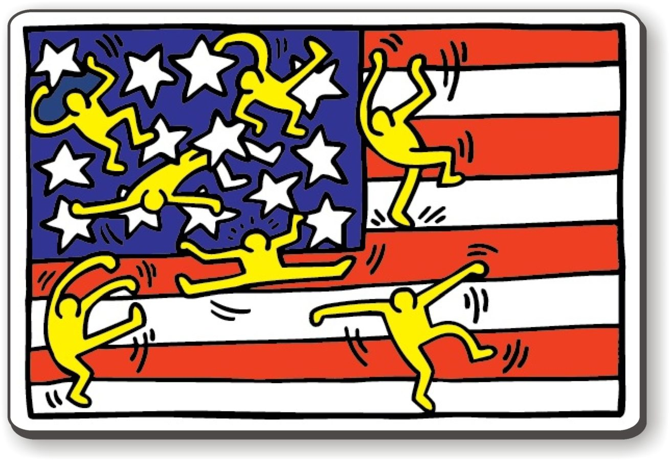 Art in BoJack Horseman Keith Haring, American Music Festival - New York City Ballet, 1988, private collection