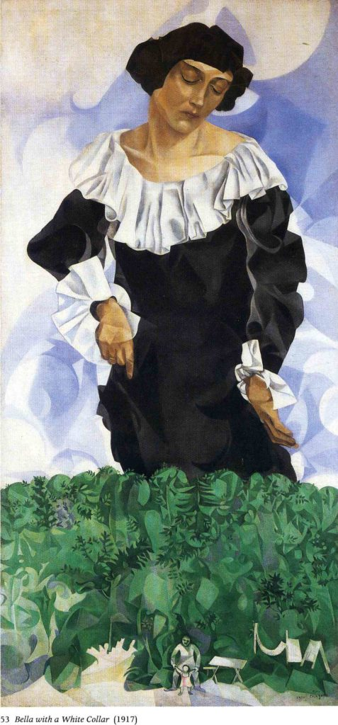 Marc Chagall, Bella with white collar, 1917, private collection, bella and marc chagall