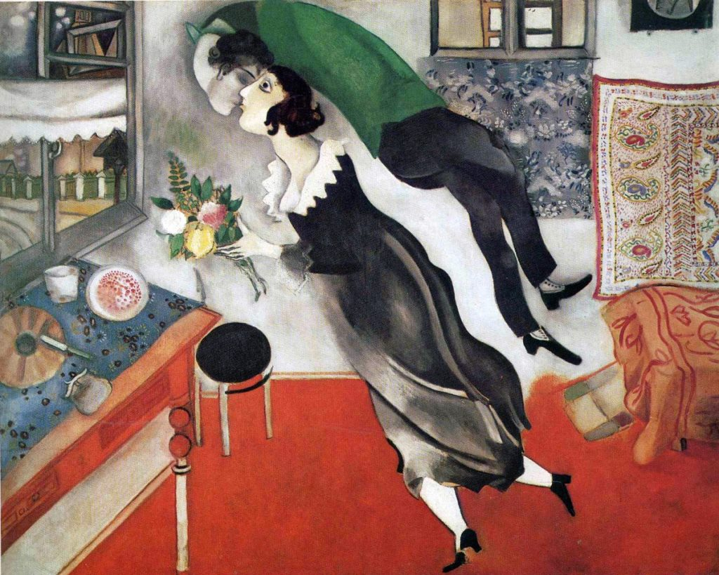 Art in BoJack Horseman Marc Chagall, The Birthday, 1915