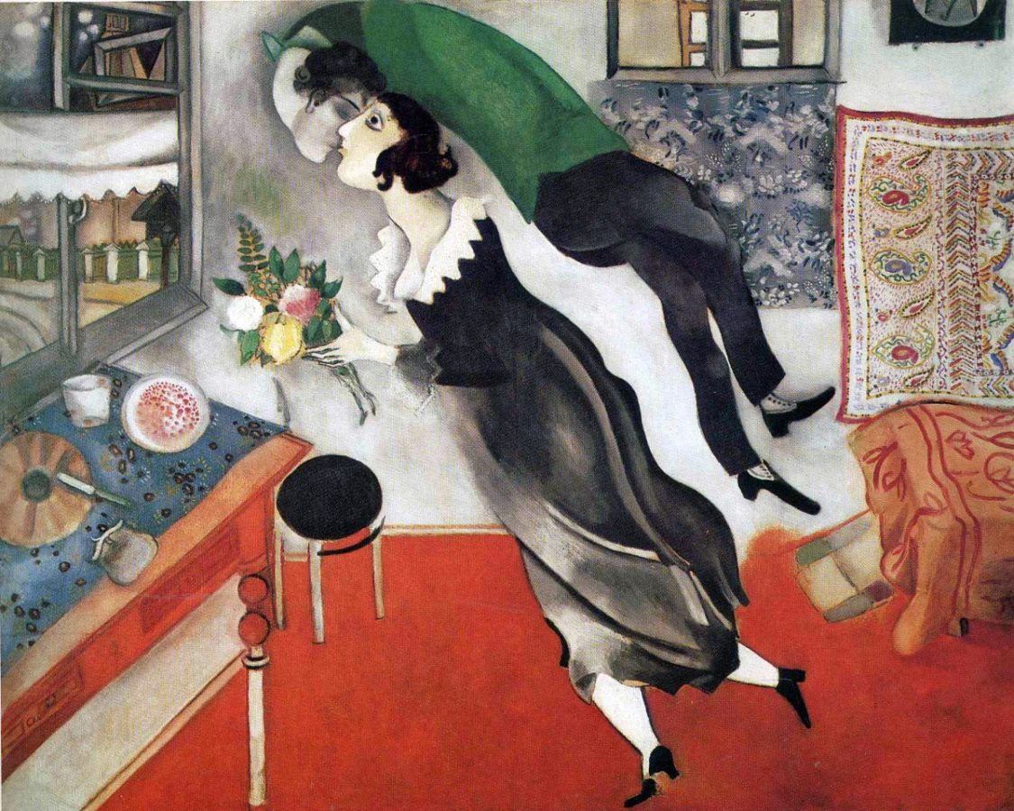 Marc Chagall, The Birthday, 1915; Museum of Modern Art (MoMA), New York City, NY, US