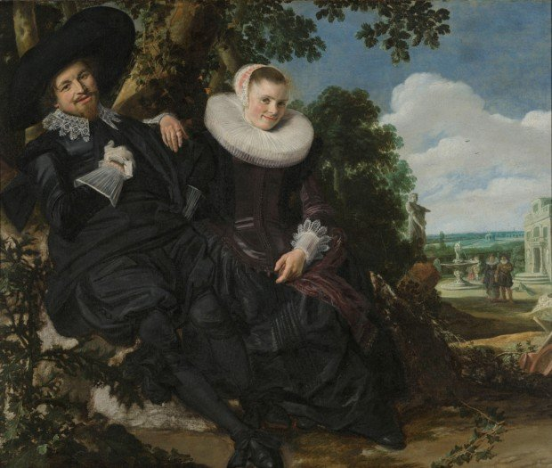 Portrait of a Couple, Probably Isaac Abrahamsz Massa and Beatrix van der Laen, Frans Hals, Rijksmuseum, Valentine's Day inspired by art