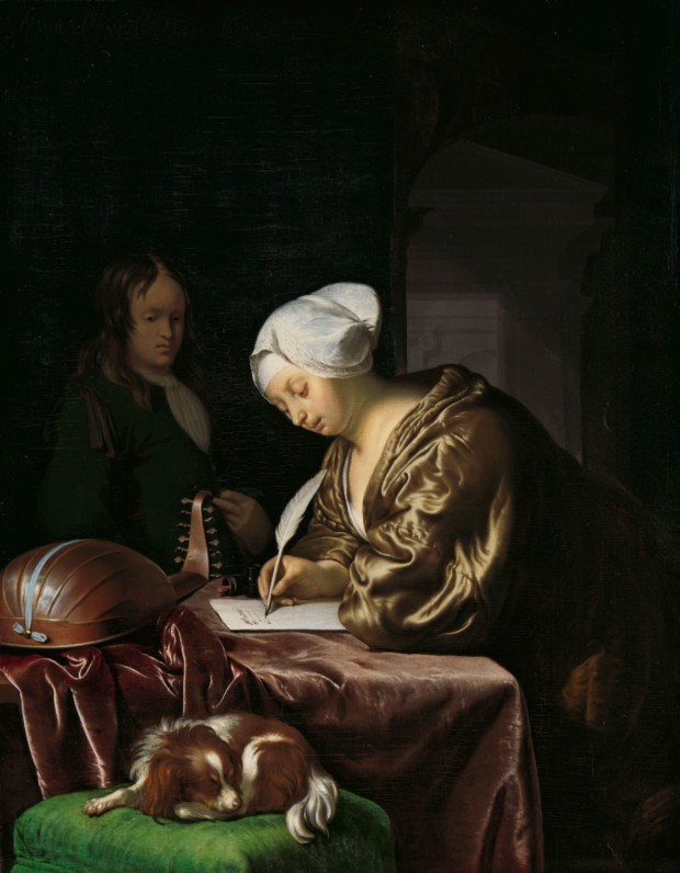 The Letter Writer, Frans van Mieris, Rijksmuseum, public domain Valentine's Day inspired by art