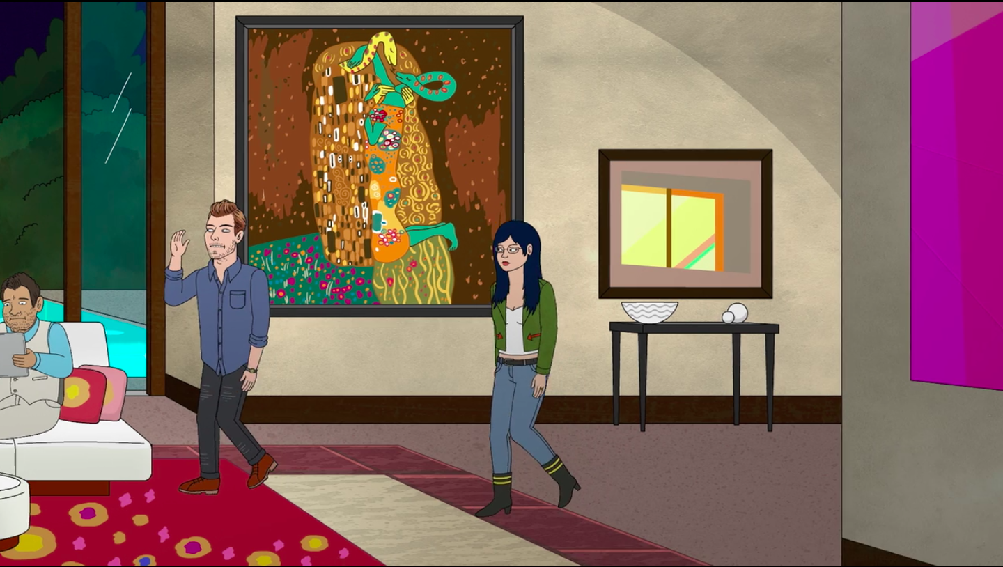 Art in BoJack Horseman The Kiss at BoJack Horseman, season 03 episode 05