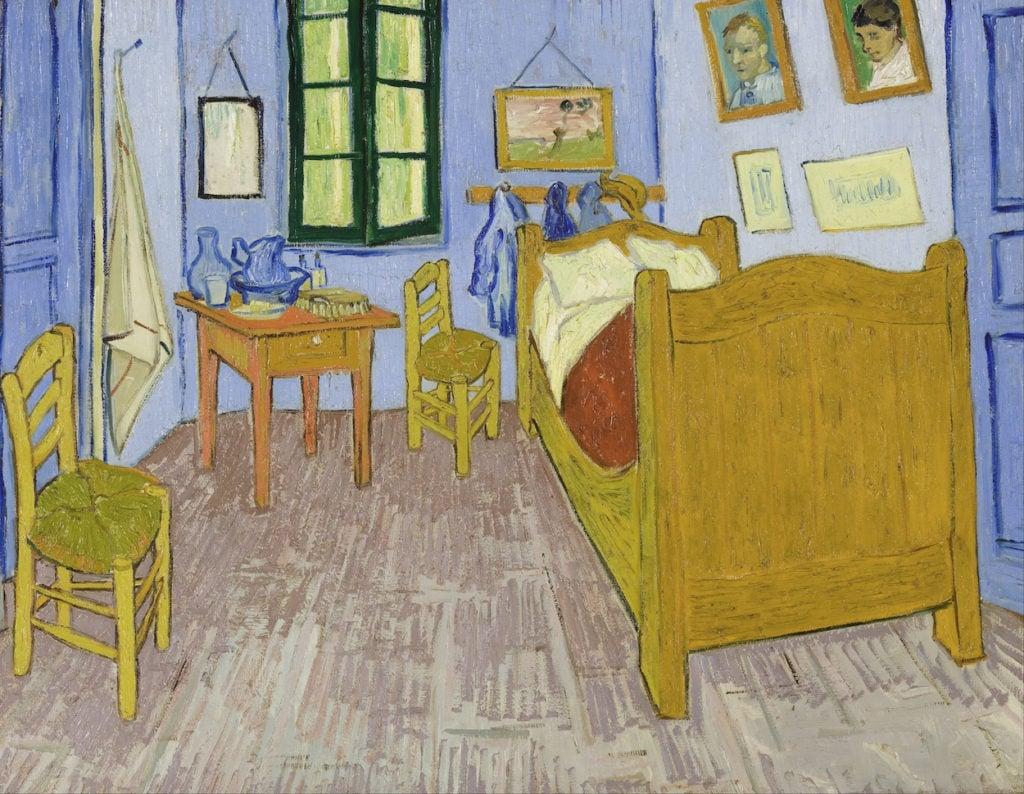 Vincent van Gogh's Bedroom Third version, end September 1889. Oil on canvas, 57.5 x 74 cm, Musée d'Orsay, Paris