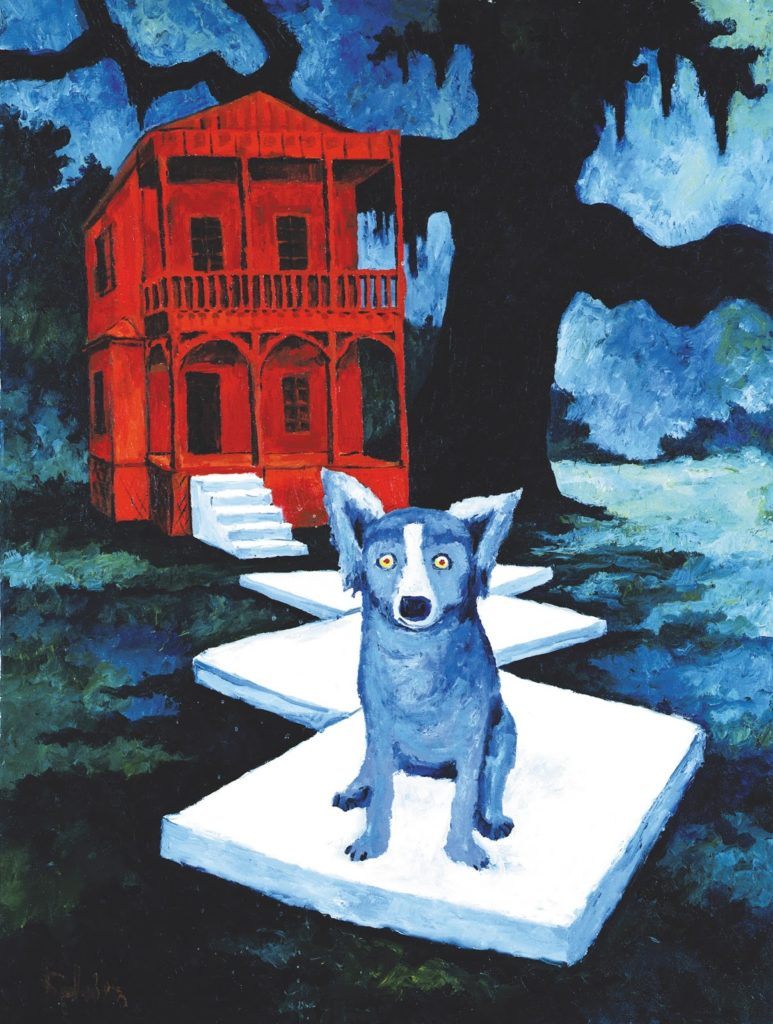 Blue Dog George Rodrigue George Rodrigue, The Watch Dog, 1984 Blue Dog By George Rodrigue