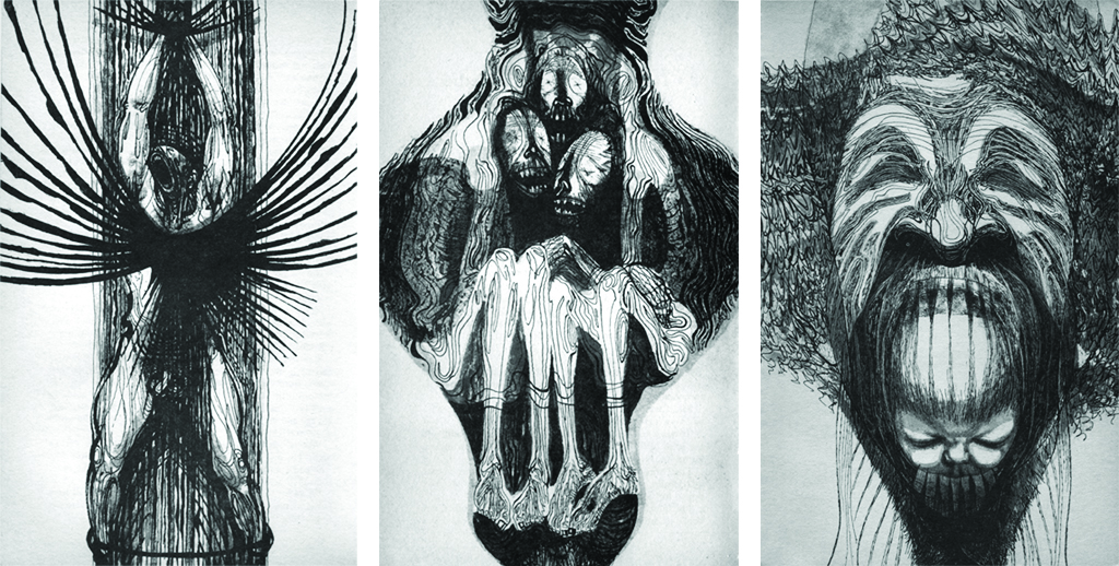 Illustrations from The God Beneath the Sea