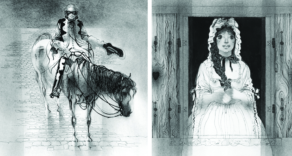 Illustrations from The Highwayman by Alfred Noyes