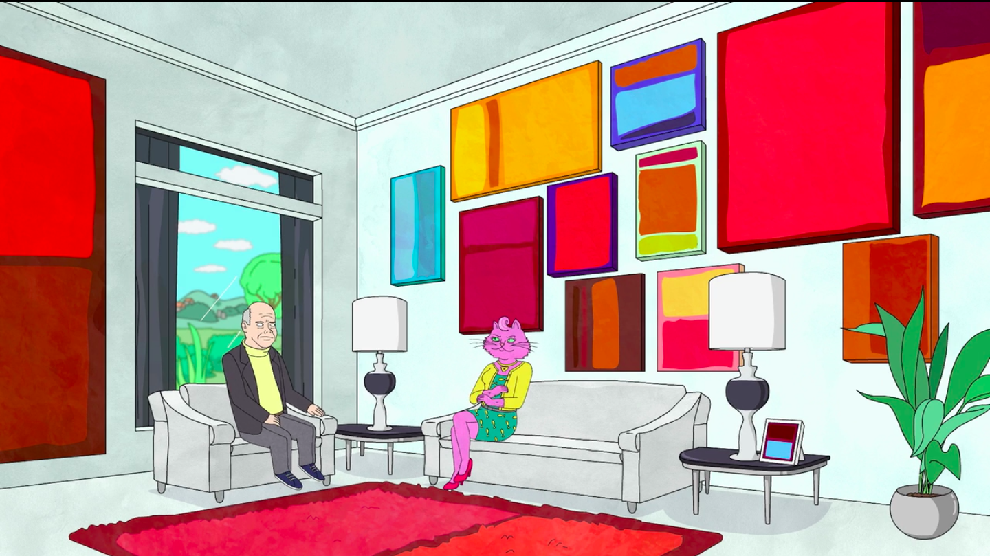 Art in BoJack HorsemanThe wall full of Rothko's, BoJack Horseman, season 01 episode 09