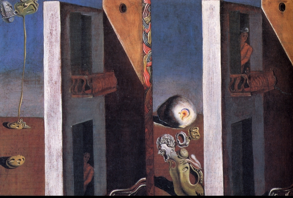 Salvador Dalí. The Two Balcony, 1929. stolen artworks from Chácara do Céu Museum