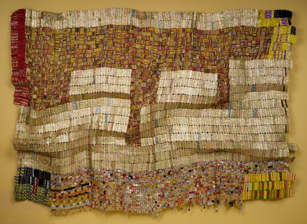 El Anatsui, Between Earth and Heaven, 2006, ©El Anatsui. Courtesy of the artist and Jack Shainman Gallery, Trash Turns Art: El Anatsui