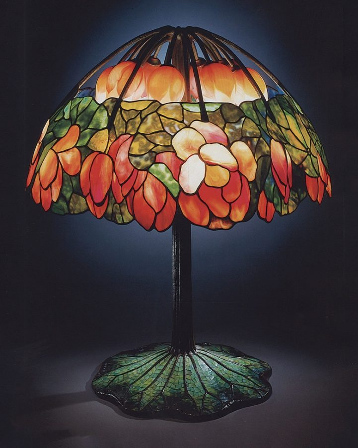 Tiffany Studios, A leaded glass, bronze and mosaic 'Lotus' lamp, circa 1900-10, source: Sothebys.com Art in BoJack Horseman