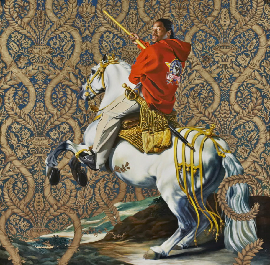Kehinde Wiley, Equestrian Portrait of the Count-Duke Olivares, 2005 Obamas' official portraits