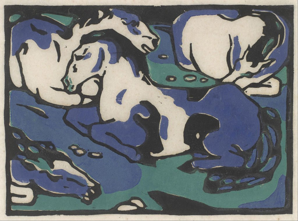 Franz Marc, Resting Horses, 1911-1912, printed 1916, The Museum of Fine Arts, Houston