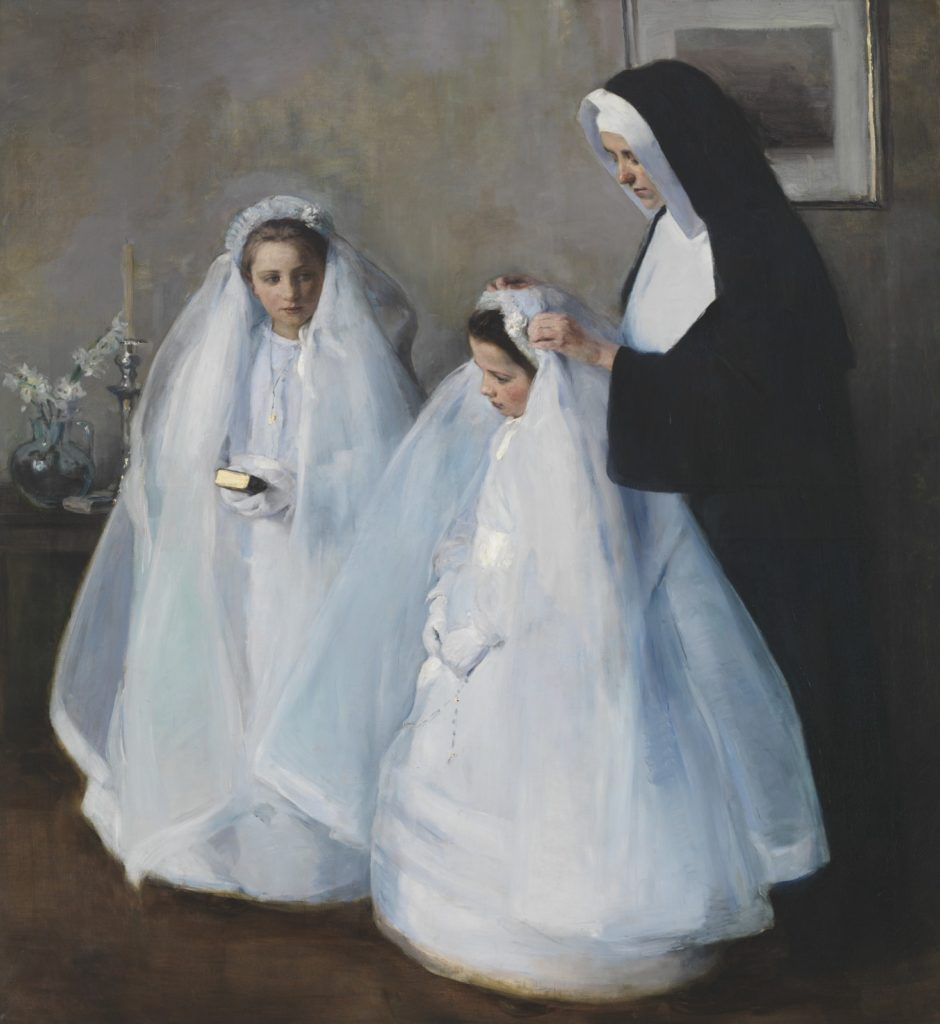 Elizabeth Nourse the premier woman artiste The First Communion (La Première communion) // 1895 // Elizabeth Nourse /