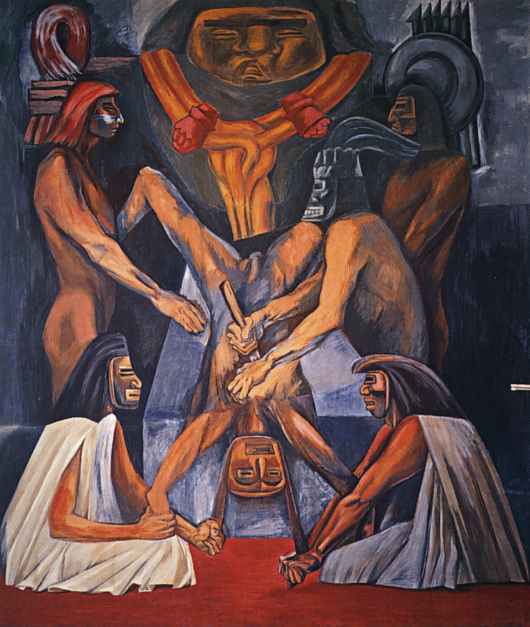 The Epic of American Civilization, José Clemente Orozco, 1934, Baker Memorial Library – Dartmouth College , The History of Mexico in Murals