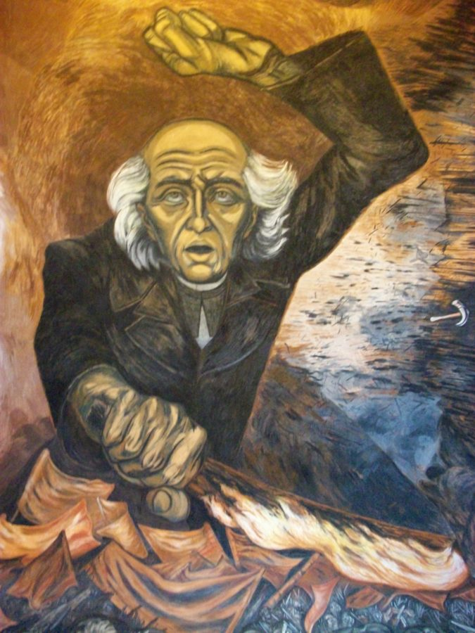 Father Hidalgo, José Clemente Orozco, 1949, Palacio Municipal de Guadalajara, The History of Mexico in Murals