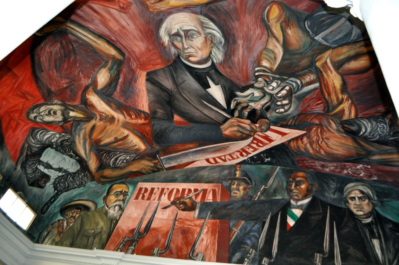 The Great Mexican Revolutionary Law and Freedom of the Slaves, José Clemente Orozco, 1949, Palacio Municipal de Guadalajara, The History of Mexico in Murals