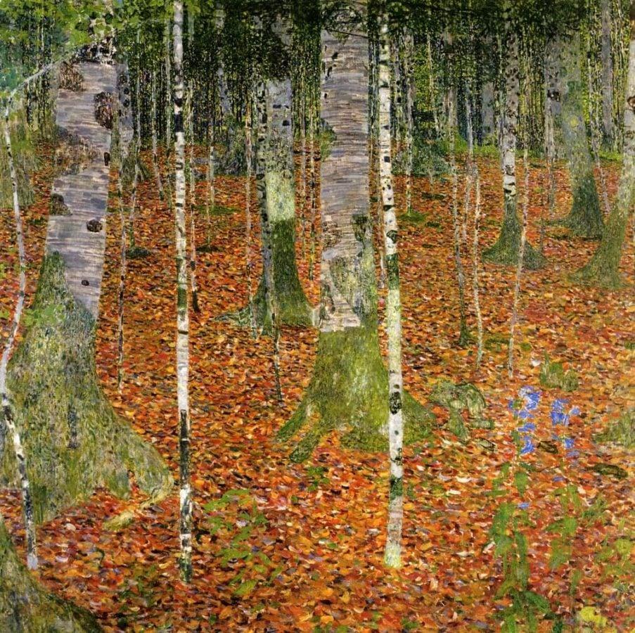Landscapes of Klimt: Gustav Klimt, Birch Forest, 1903, private collection