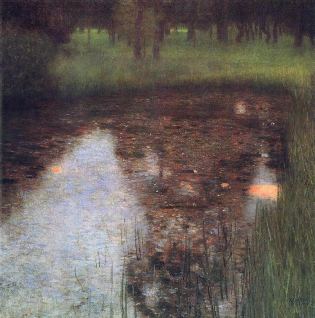 Klimt's Landscapes Calm Pond on the Kammer Castle Grounds