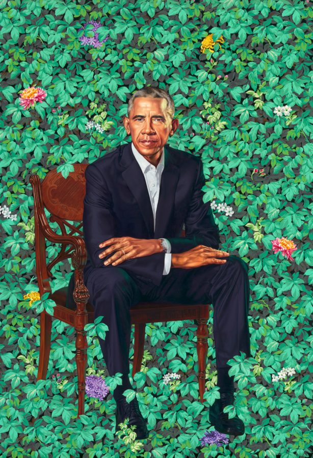 Kehinde Wiley, Barack Obama, 2018, National Portrait Gallery, Washington DC Obamas' Official Portraits
