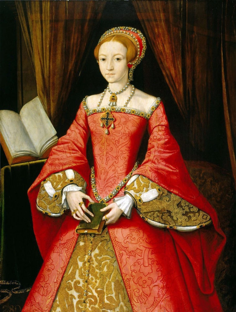 Portraits of Queen Elizabeth I: William Scots (attr.), The Young Elizabeth, c. 1546-7, Royal Collection, London, UK.