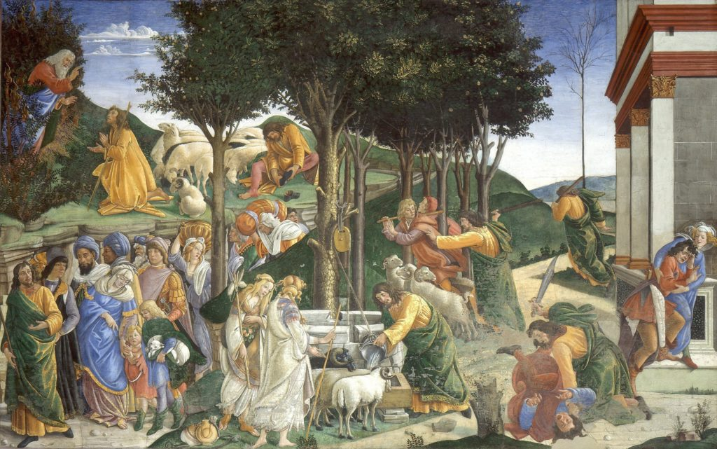 Sandro Botticelli, fresco from the series with the Life of Moses, Sistine Chapel