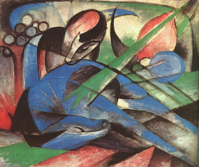 Franz Marc, Dreaming Horse, 1913, Solomon R. Guggenheim Museum, New York Solomon R. Guggenheim Founding Collection