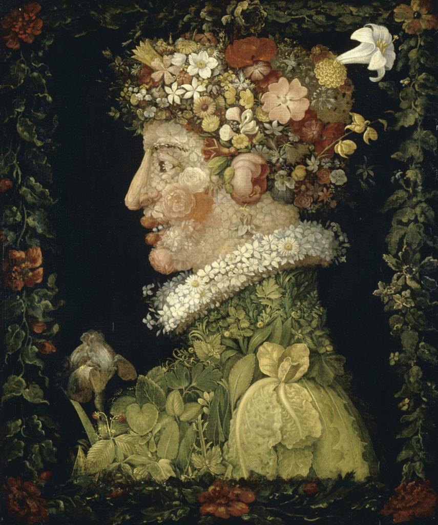 spring paintings Giuseppe Arcimboldo, Spring, 1573, Louvre Museum art masterpieces to welcome spring