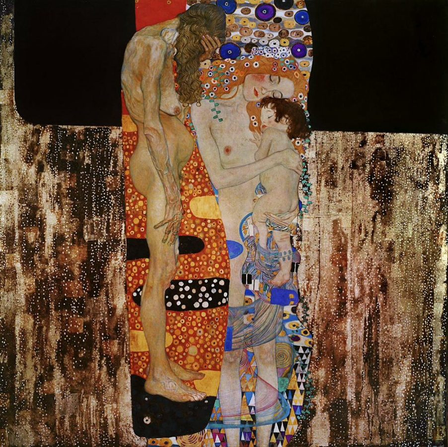 Why is Klimt Famous: Gustav Klimt, The Three Ages of a Woman, 1905, Galleria Nazionale d'Arte Moderna, Rome