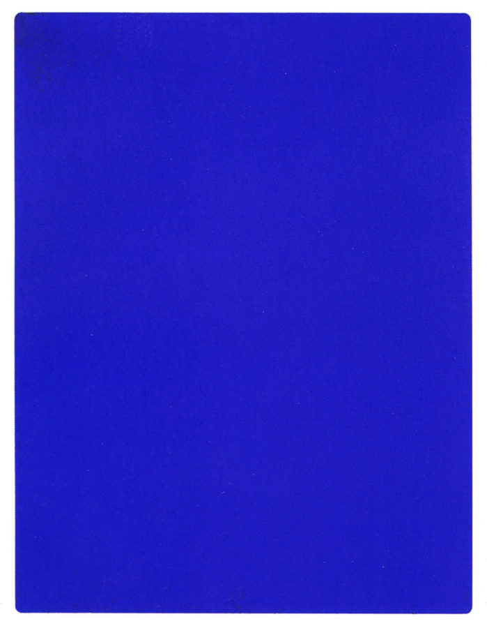 Yves Klein, KB 191, 1962. painters trademarked colors
