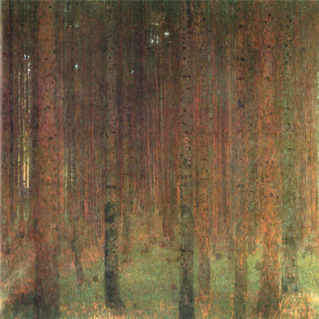 Landscapes of Klimt: Gustav Klimt, Pine Forest II, 1902, Baltimore Art Museum, Baltimore, MD, USA.