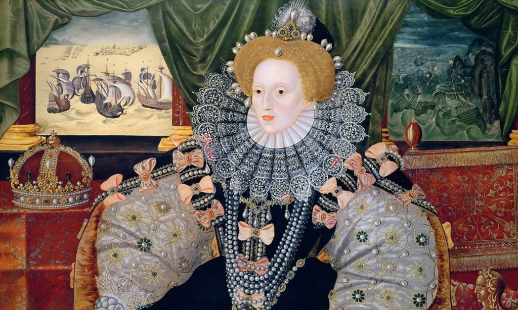 The Woburn Abbey version of the Armada Portrait, unknown English artist (formerly attributed to George Gower), 1588, Woburn Abbey.