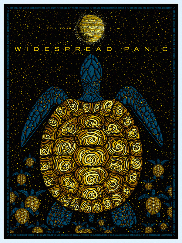 Posters in Art History Widespread Panic fall