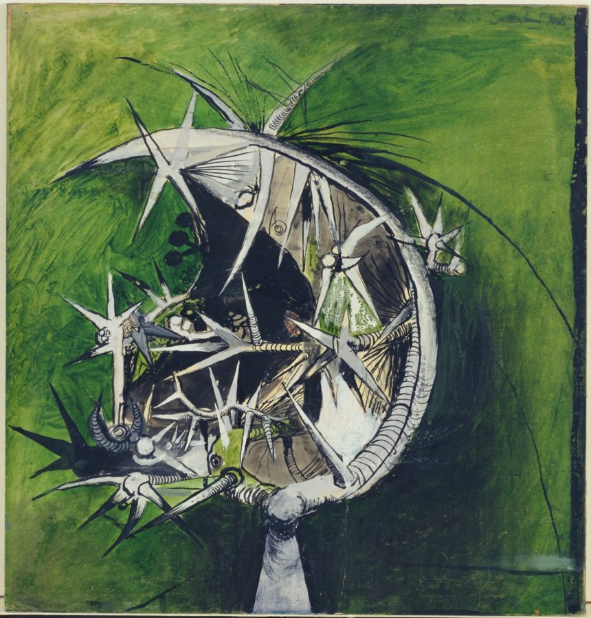 image of the crucifixion 'Thorn Head', Graham Sutherland